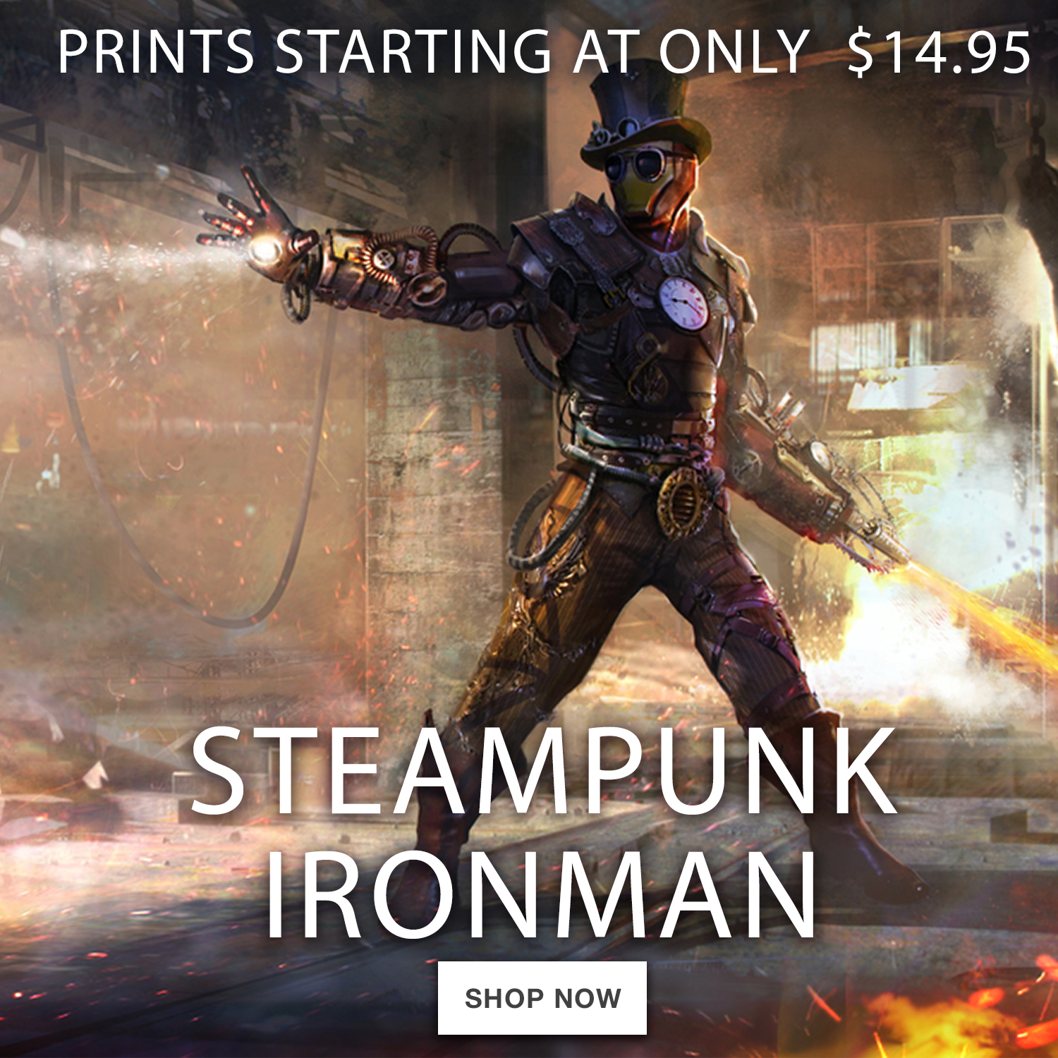 Steampunk Iron Man 900×900
