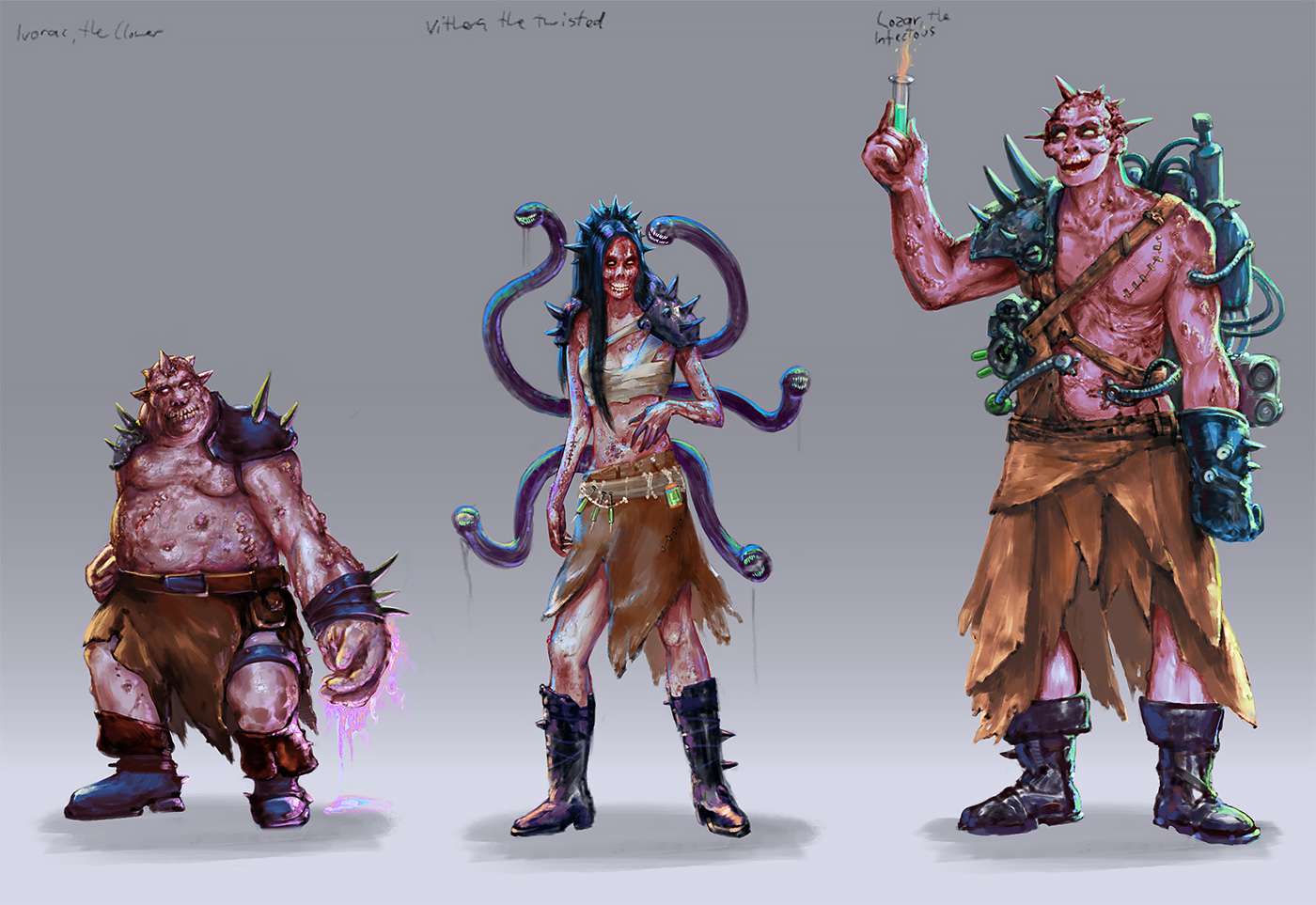 Creature Character Design Portfolio Digital ArtLords - Game design portfolio