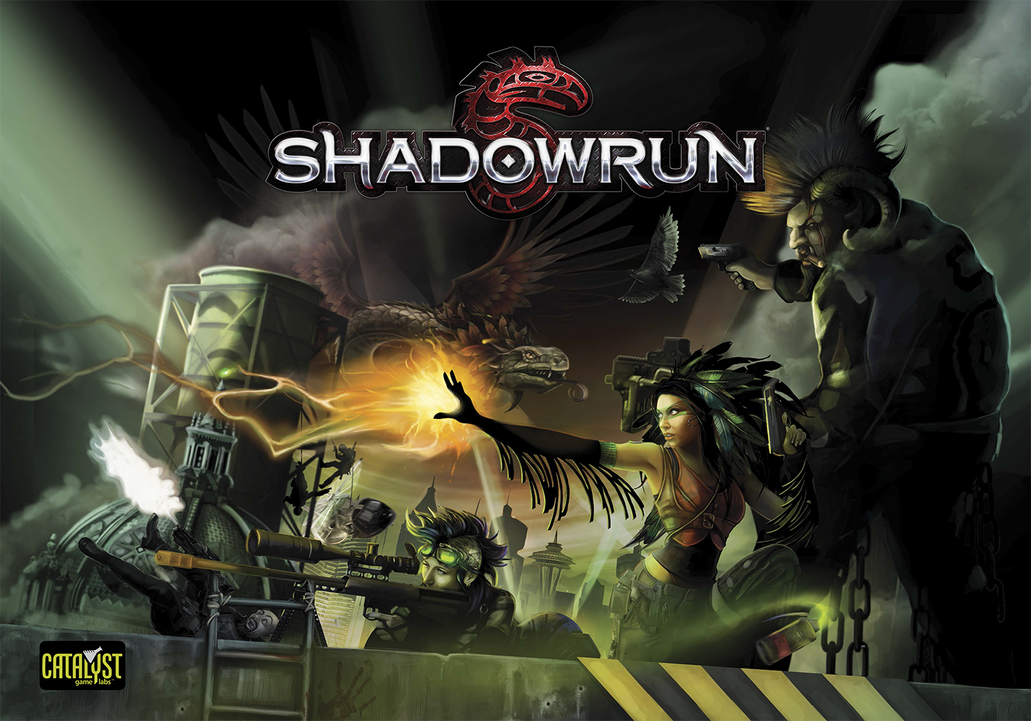 Shadowrun: North America Map and Box Set Poster