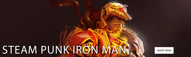 Steampunk Iron Man – horizontal-jumbo-ad