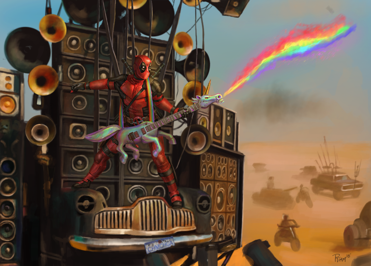 Deadpool, Print, Mad Max, Digital Art, Andy Timm