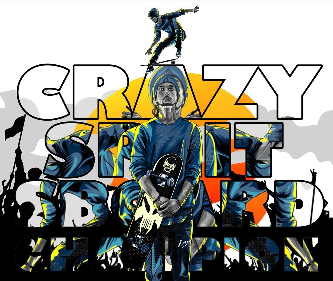Crazy Split Sboard Rev
